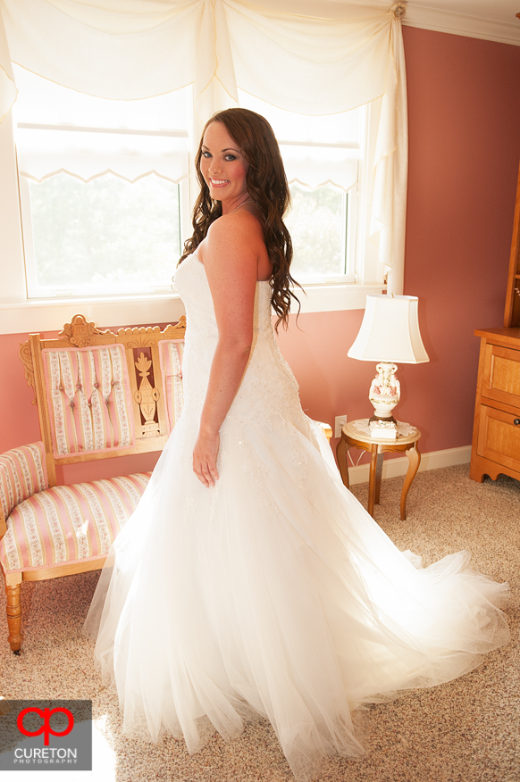 The bride in the bridal suite.