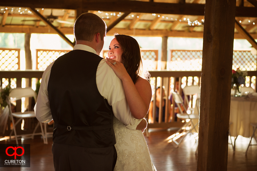 Their first dance as a married couple.