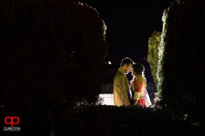 Bride and Groom at the Garba party before their Indian Wedding in Greenville,SC.
