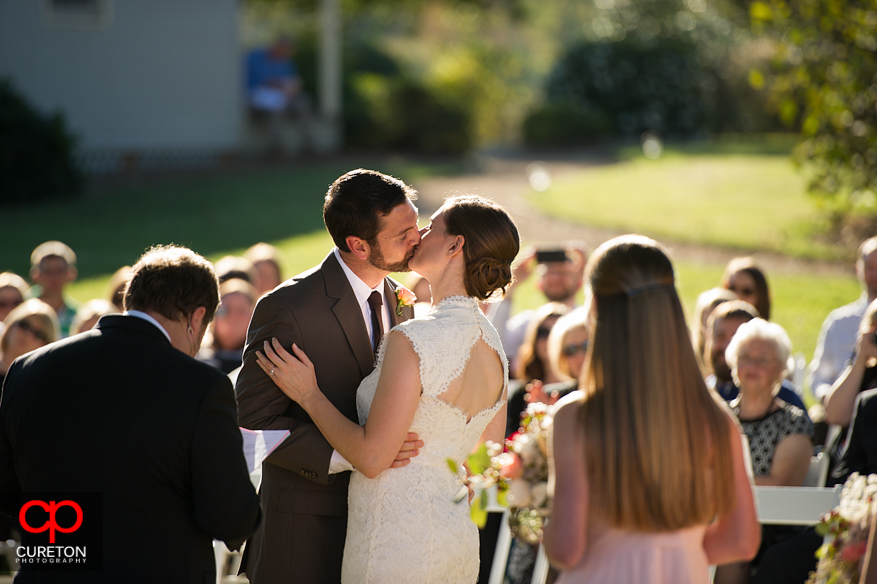 First kiss during their Lenora's Legacy wedding.