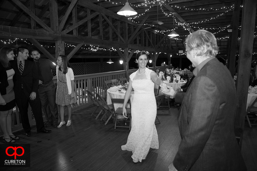 Bride and Father dancing at the reception.