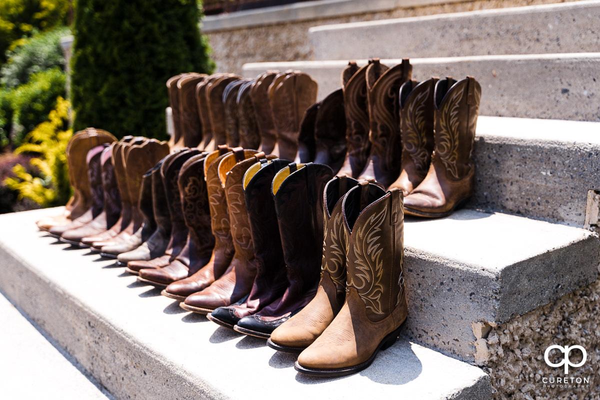 Bridesmaids boots.