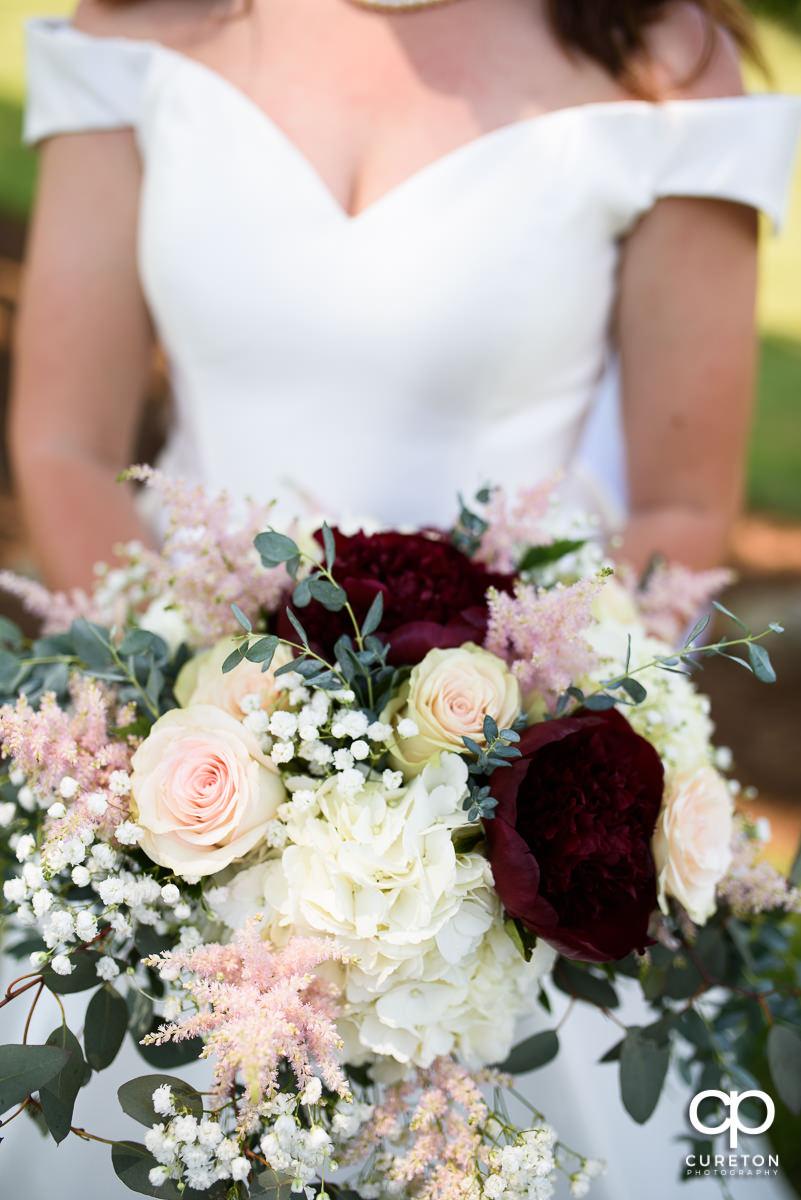 Bride's flowers.