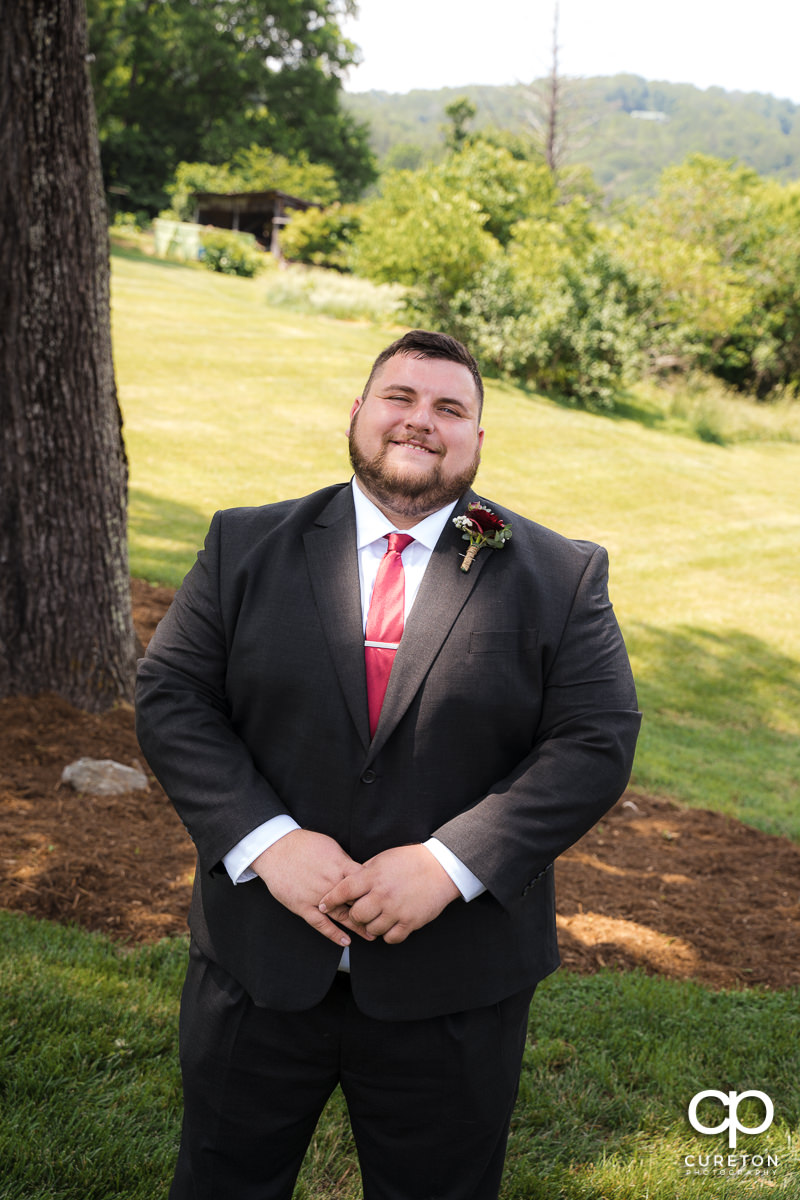 Groom before the ceremony.