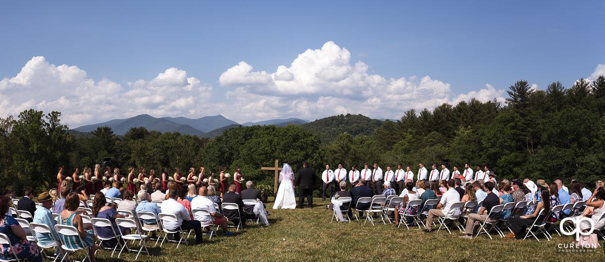Asheville, NC outdoor wedding ceremony.
