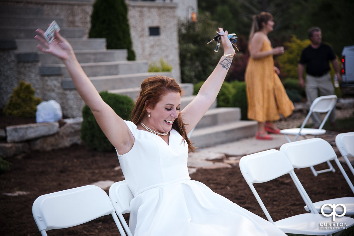 Wedding guests dancing to the sounds of DJ Howie D from Sumter,SC.