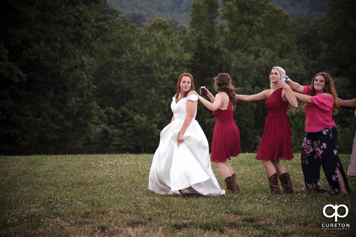 Wedding dance train.