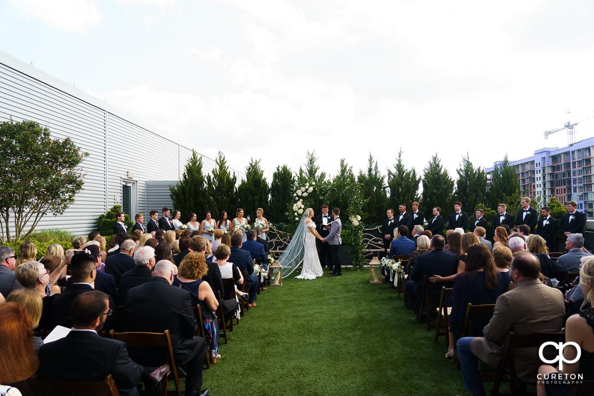 Rooftop wedding in Greenville,SC.