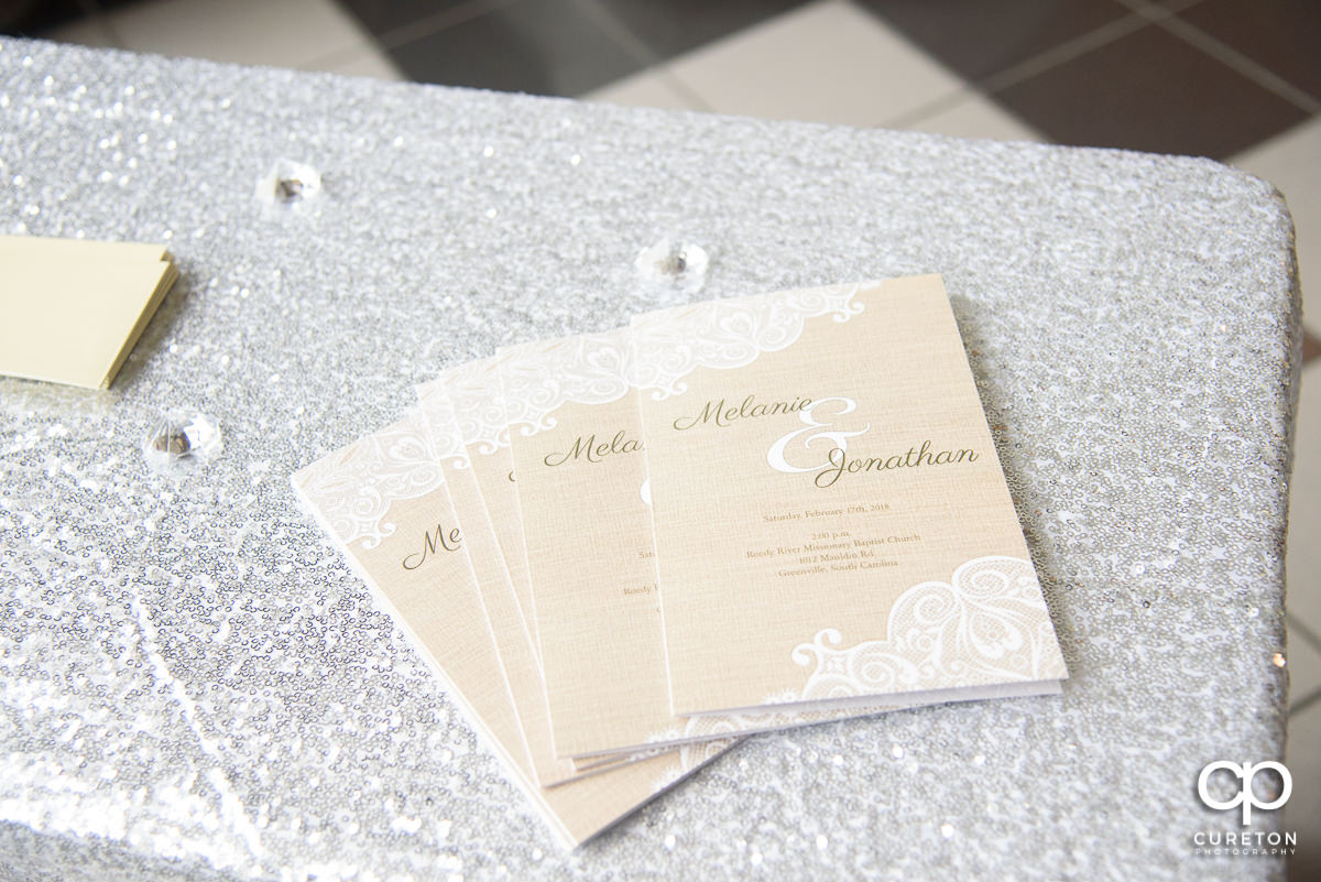 Wedding programs.
