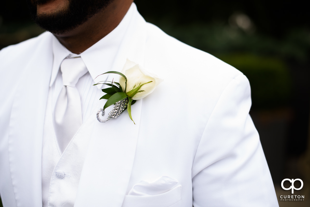 Groom's boutonniere.