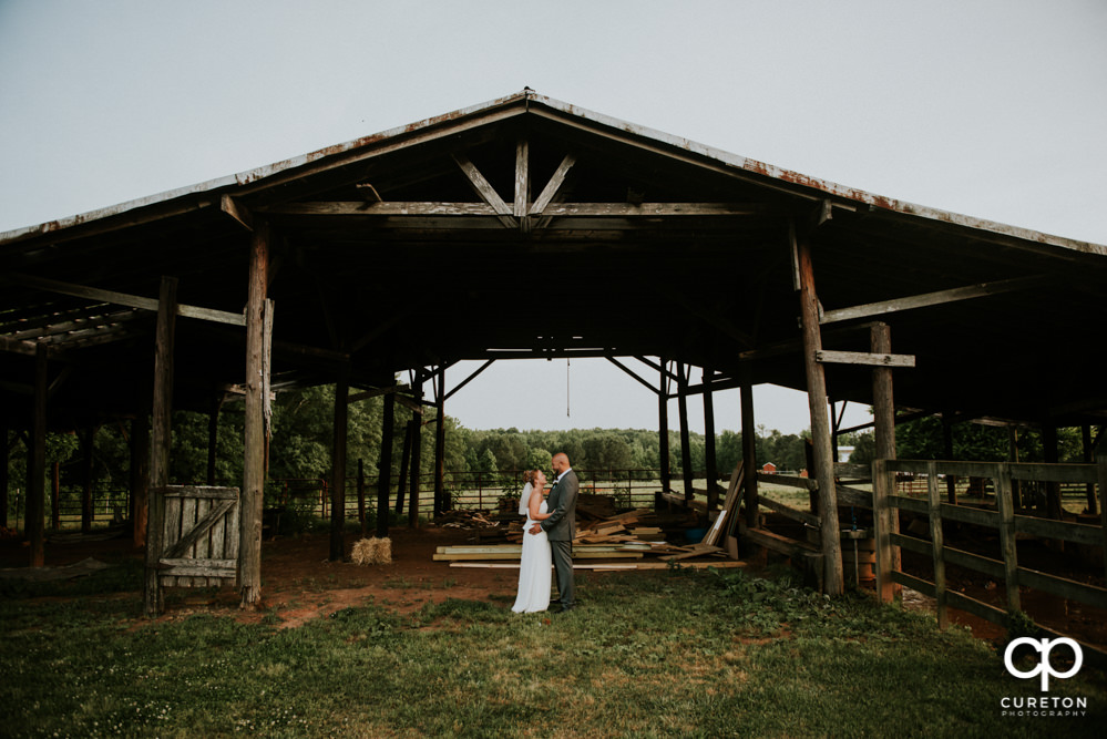 Bride and groom at their Barn at Forevermore Farms wedding.