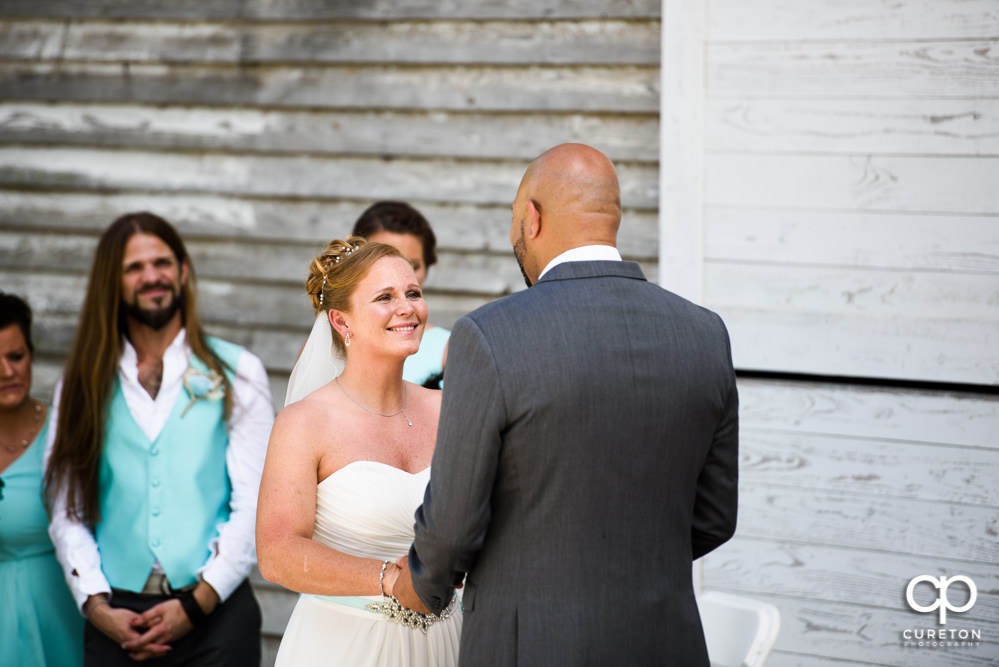 Wedding ceremony at the Barn at Forevermore Farms.
