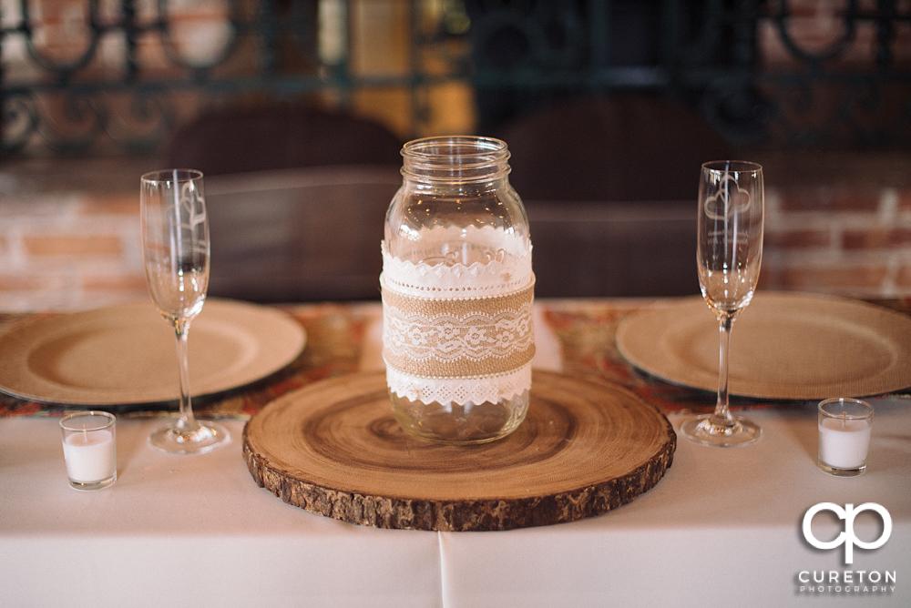 Wedding details .