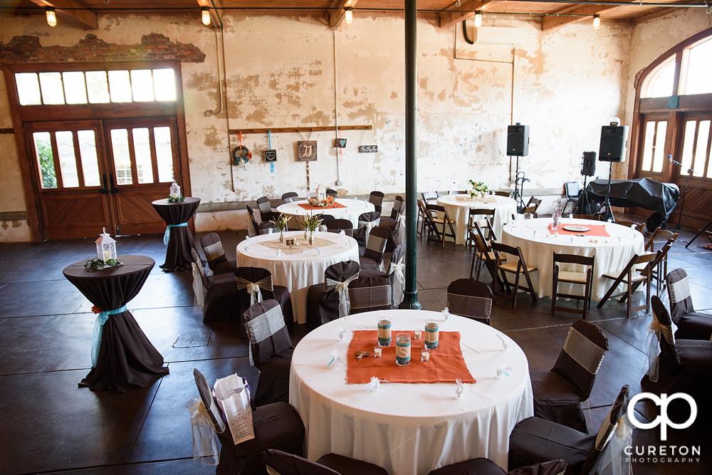 The Bleckley Inn setup for a wedding reception.