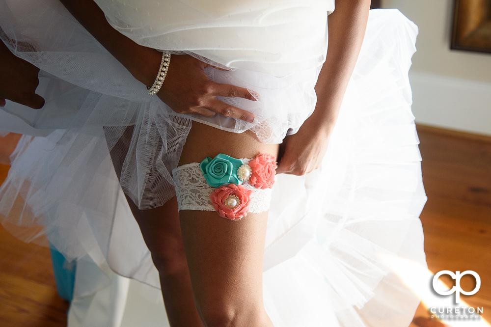 The bride's garter.
