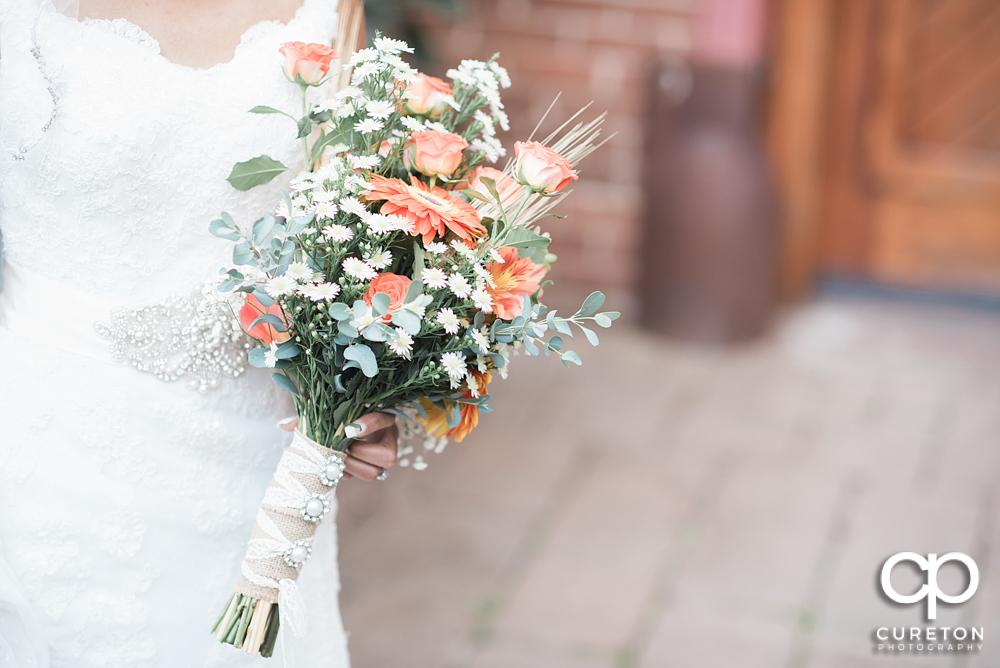 Bride's flowers by Renée Burroughs designs.