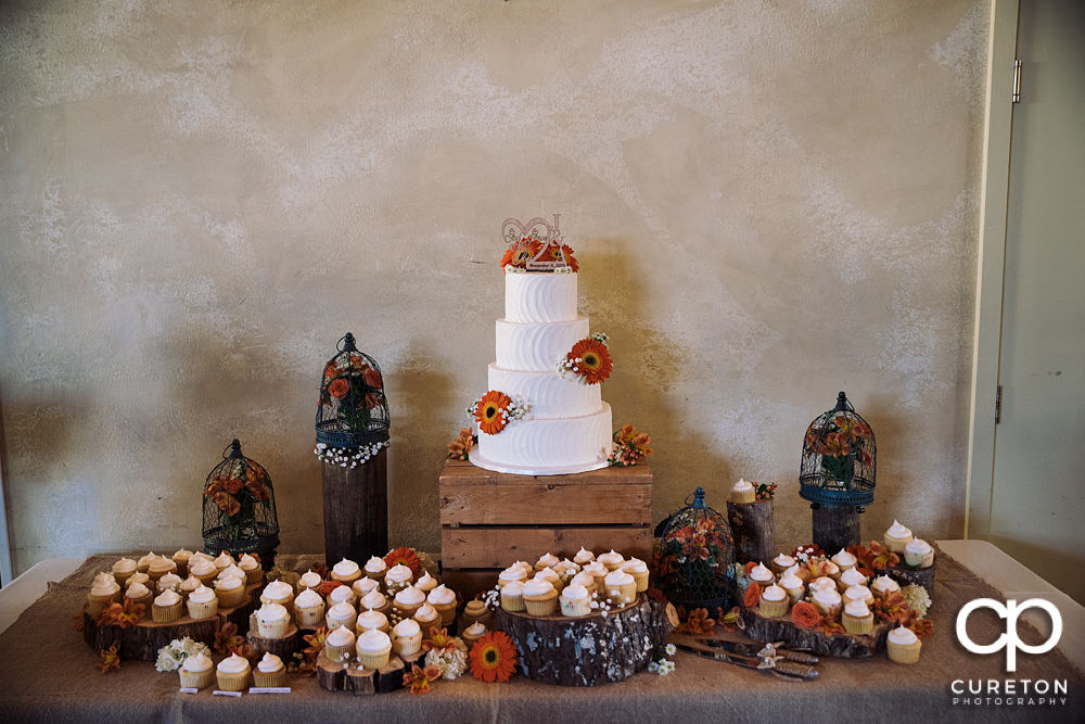 Beautiful cake display by Holly's cakes.