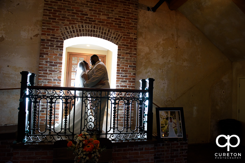 Bride and groom first dance at The Bleckley Inn wedding reception.