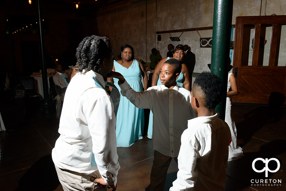 Dance off at the reception.
