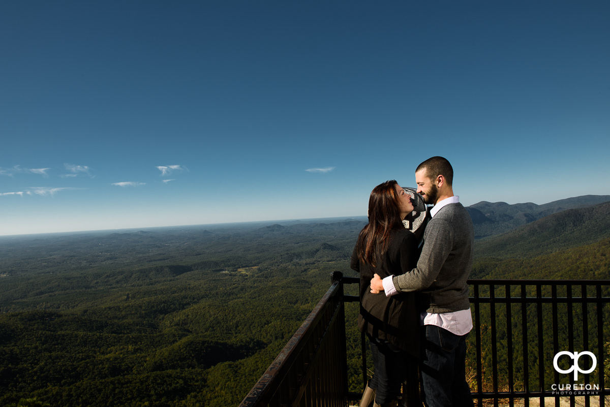 Engaged Couple at the lookout.