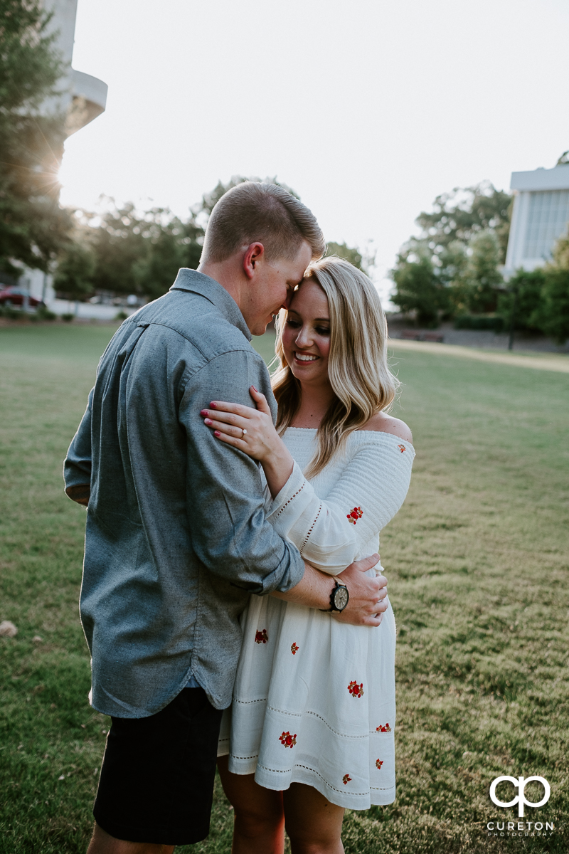Engaged couple in Clemson,SC.