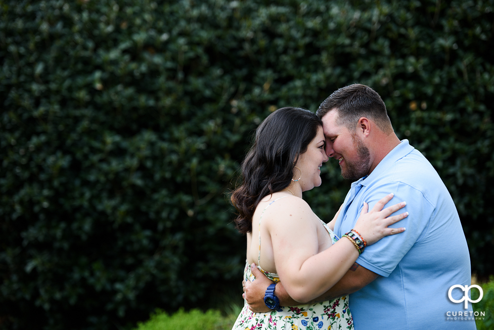 Engagement session at Cleveland Park in downtown Greenville,SC.
