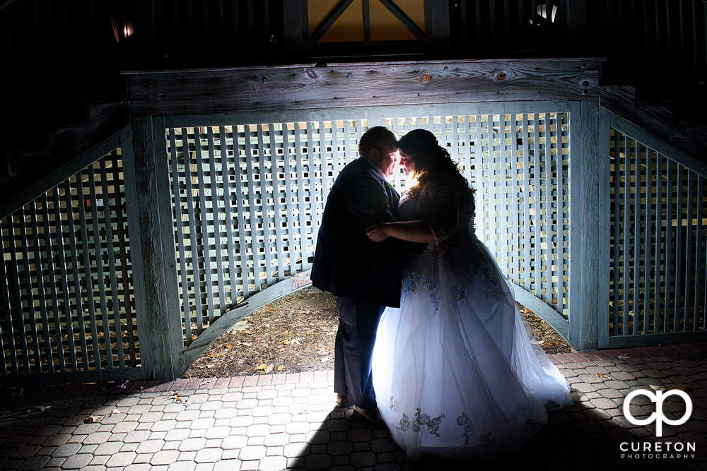 Epic bride and groom during their Cleveland Park wedding reception.