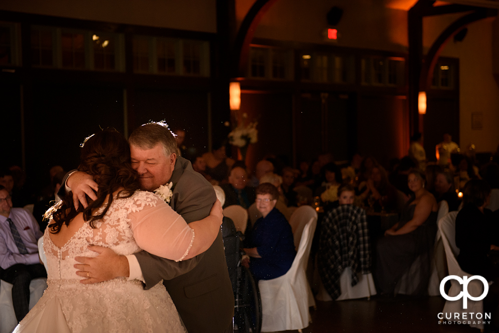 Bride and her father sharing a dance at the Cleveland Park wedding reception.