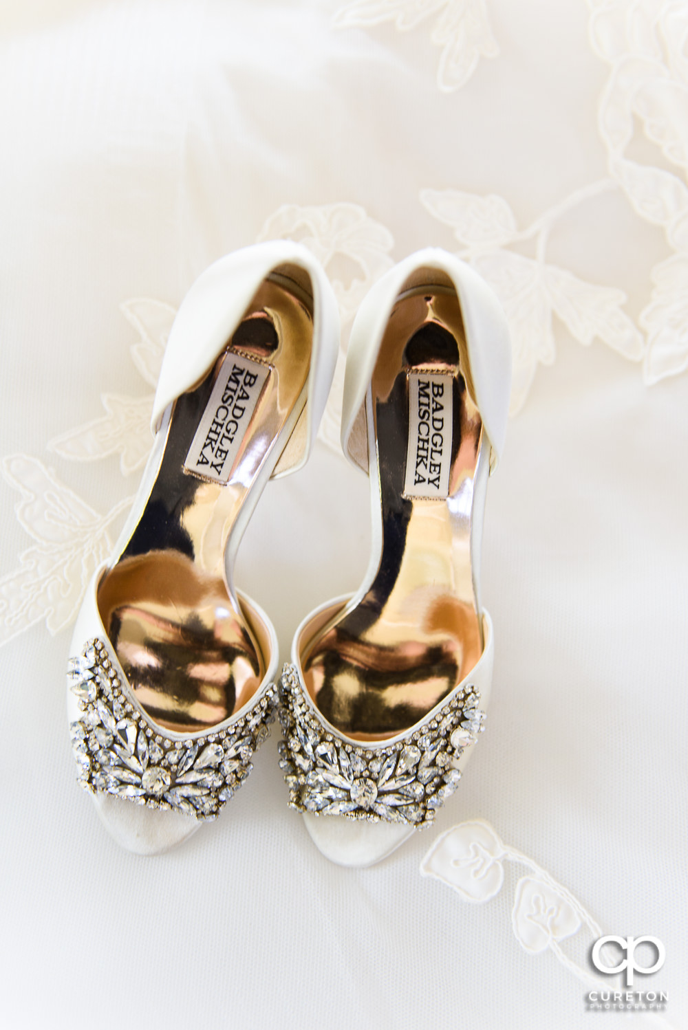 Badgley Mischka bridal shoes.