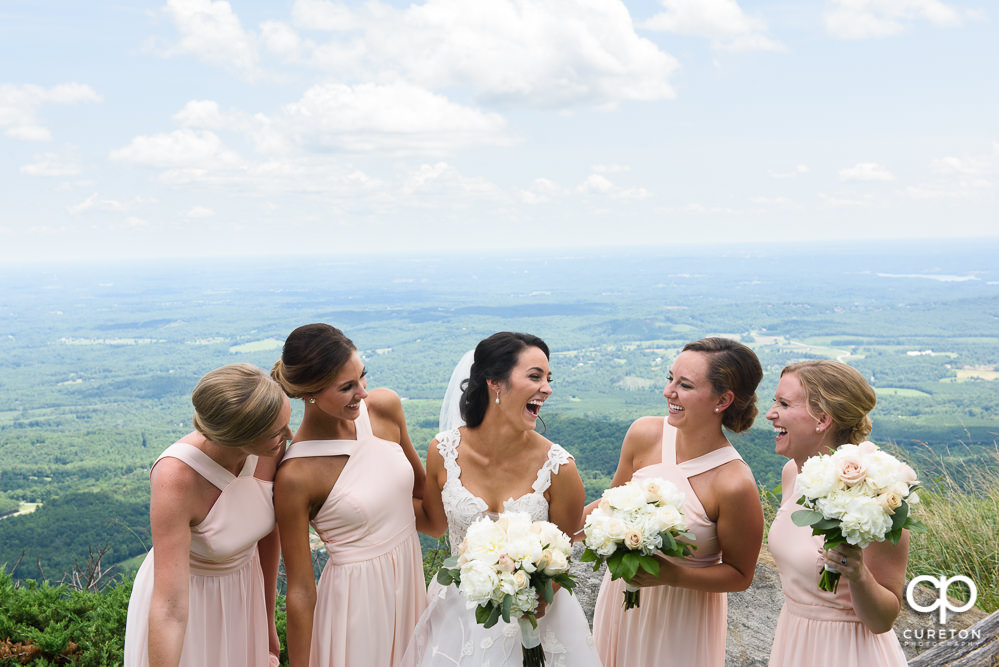 Bridesmaids at Glassy Chapel.