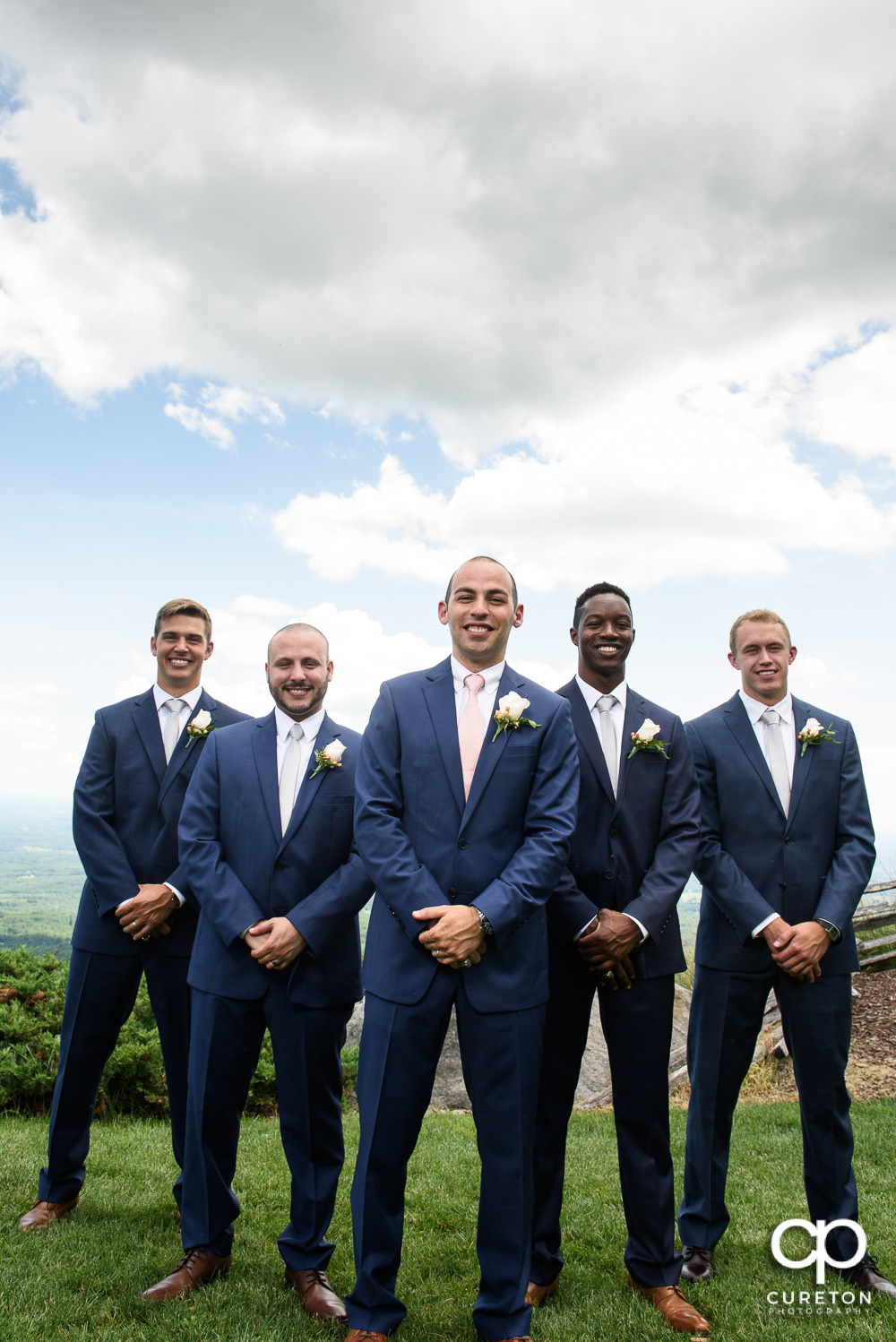 Groomsmen at Glassy Chapel.