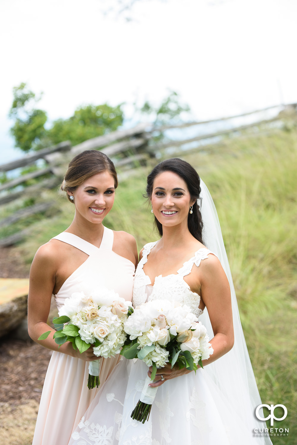 Bride and her sister.