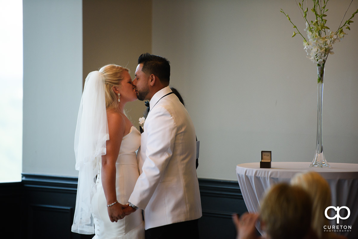 First kiss during the ceremony.