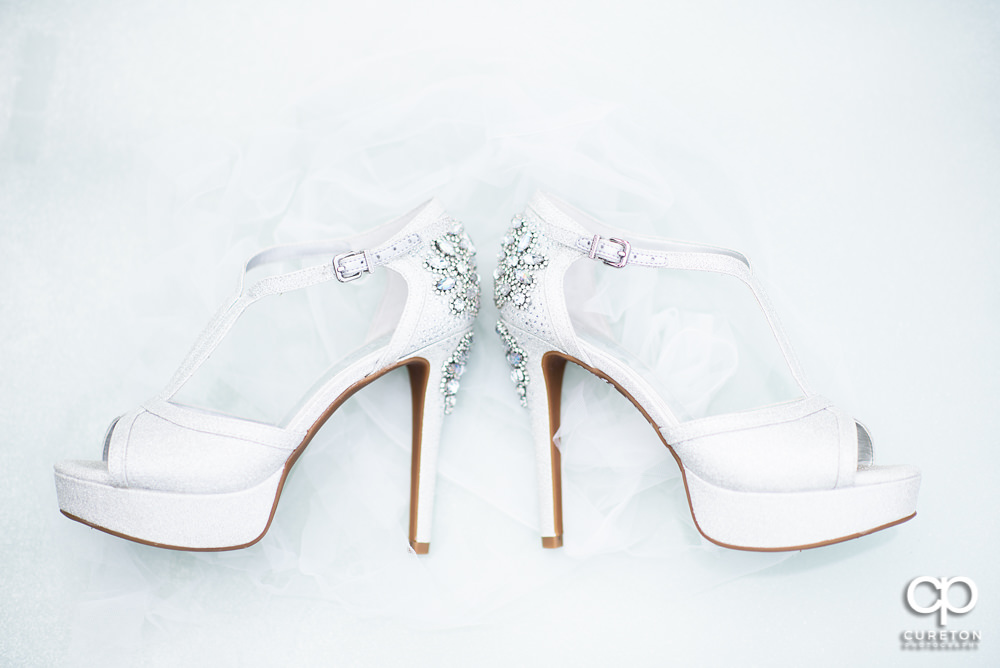 Bride's shoes before her wedding.