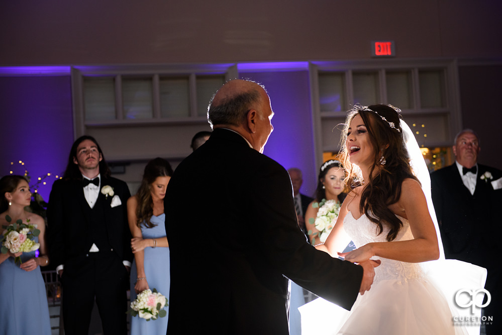 Bride dancing wth her father at the reception.