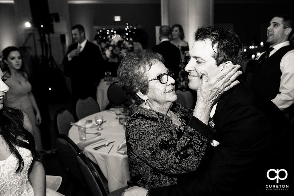 Groom and grandma.