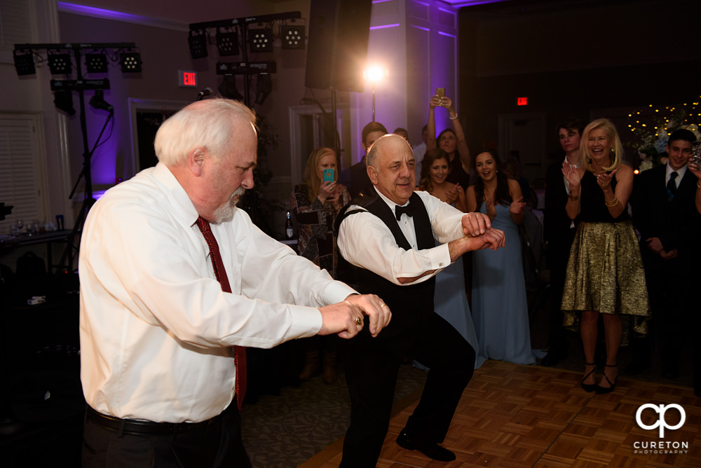Bride's dad dancing to Gangam Style.