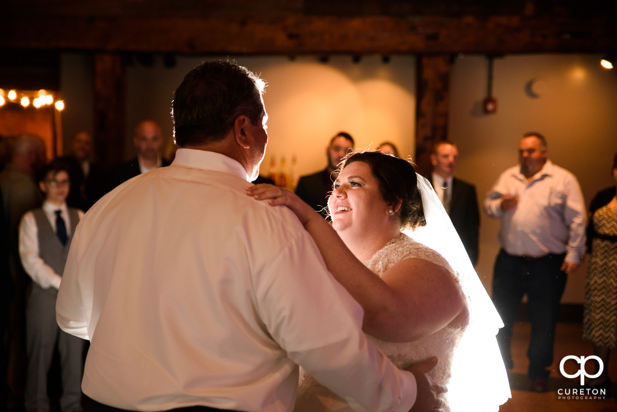 Bride and father first dance.