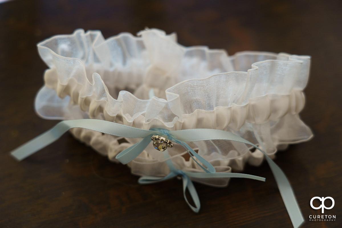 Bride's garter.