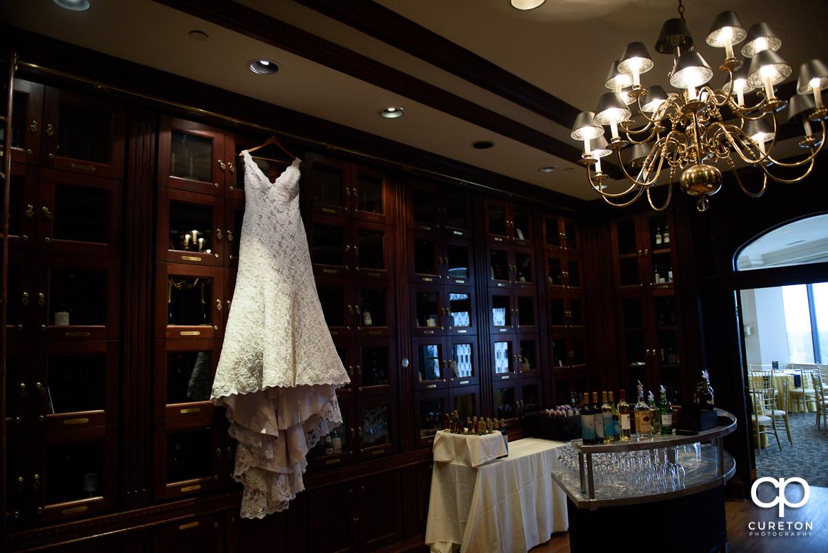 Bride's dress.