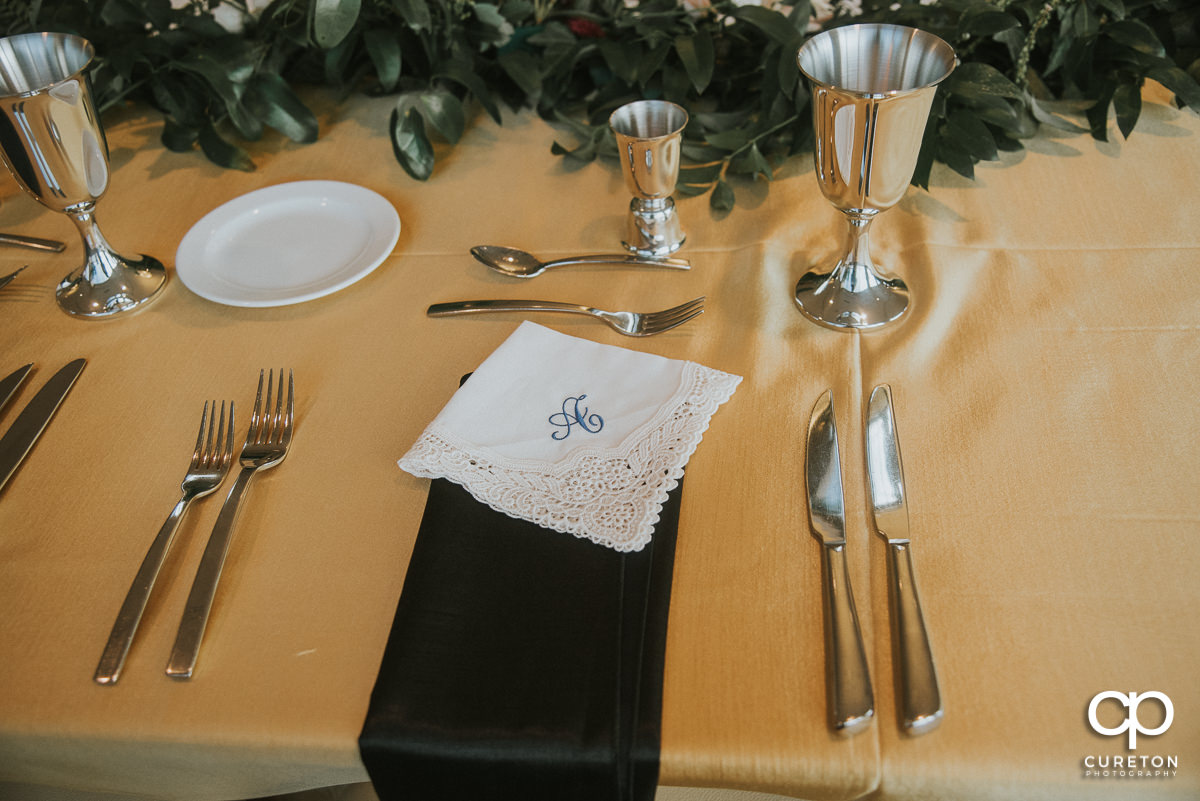 Place setting for the reception.