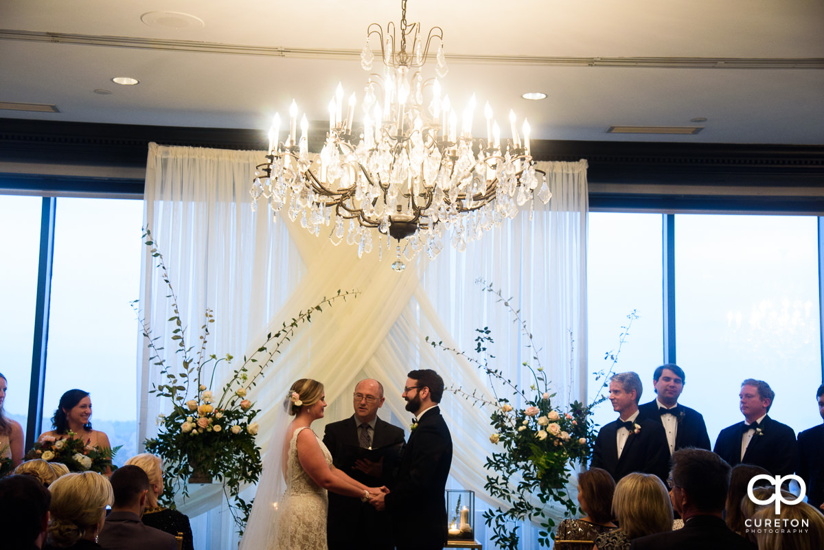 Wedding ceremony at The Commerce Club.