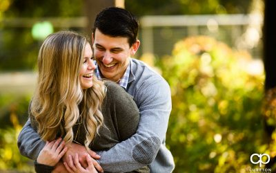 Fall Engagement Session in downtown Greenville,SC – Logan + John