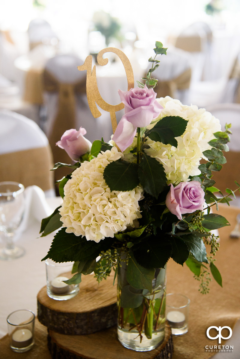 Florals at the reception.