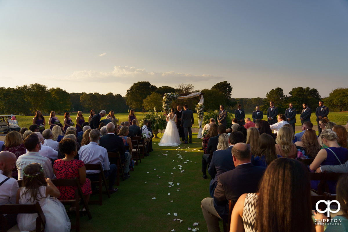 Holly Tree wedding on the golf course.