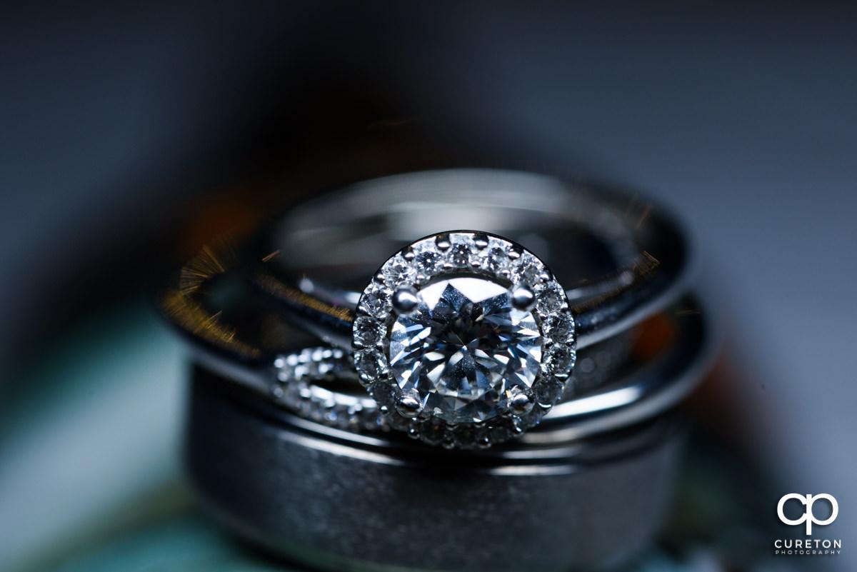 Wedding ring closeup macro shot.