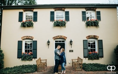 Falls Park and Downtown Greenville SC Engagement Session – Cera + Tim