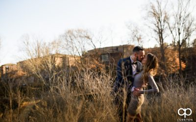 Winter Falls Park Engagement Session in downtown Greenville,SC – Lauren + Cody