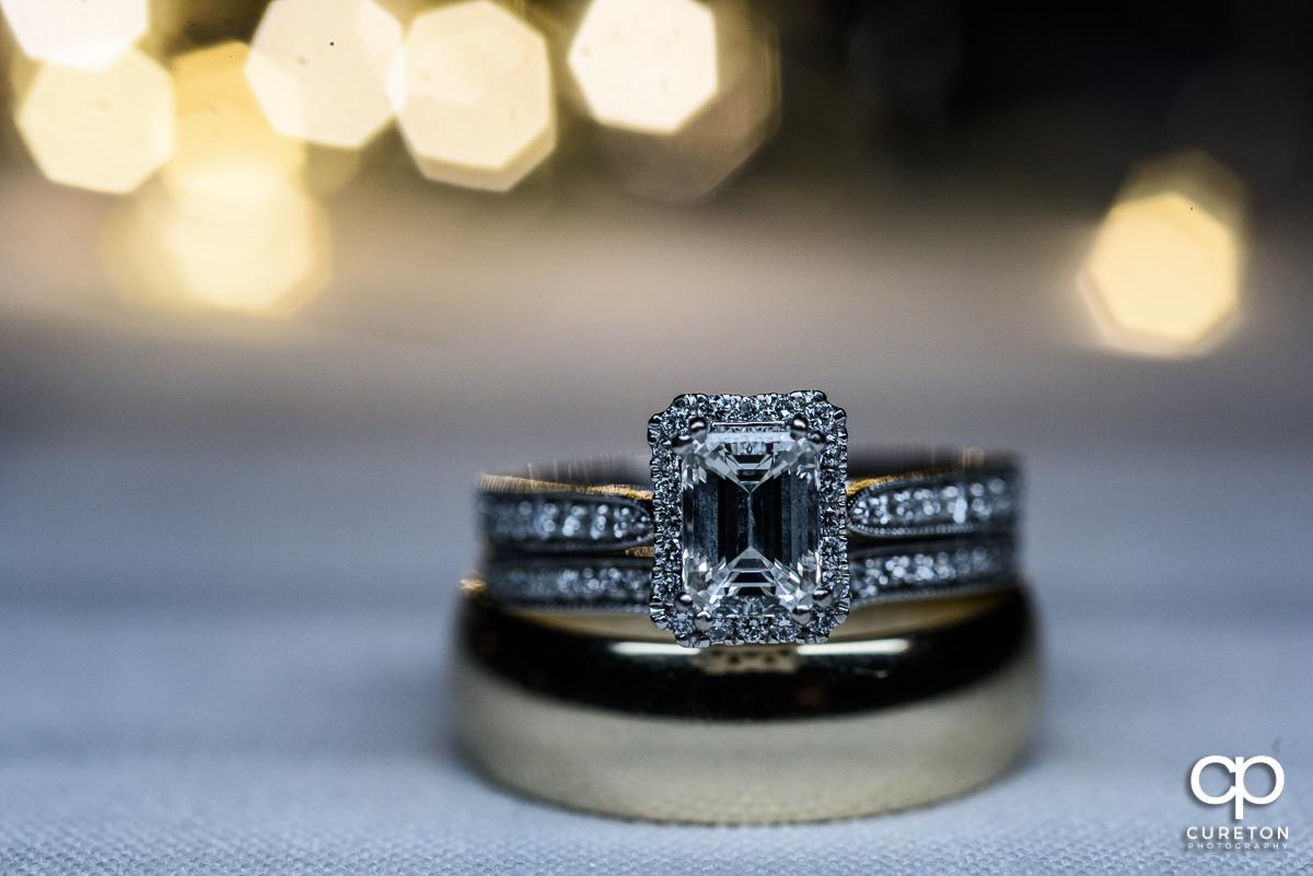 Macro closeup of wedding ring.