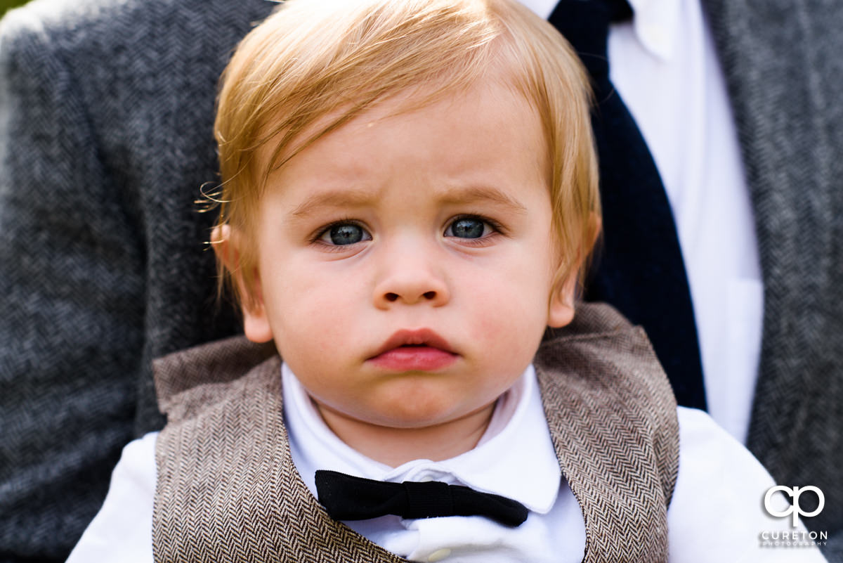 Ring bearer at the wedding.